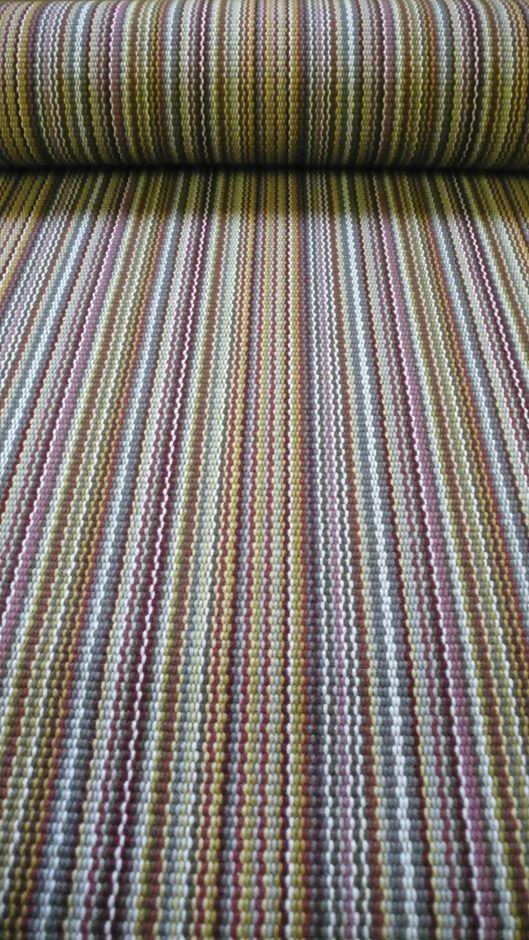 Flatweave Stripes. Multi Red Carpet by Hartley and Tissier
