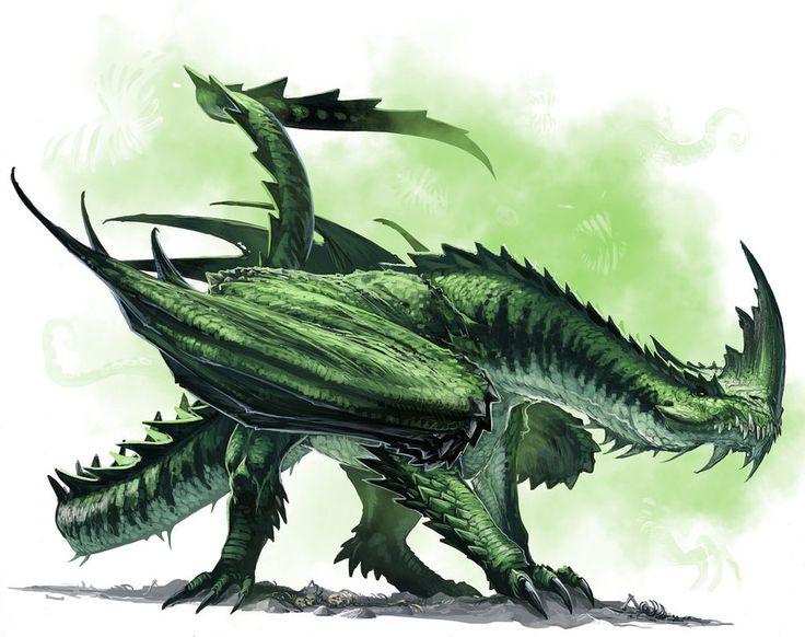 Ancient Green Dragon by *BenWootten on deviantART