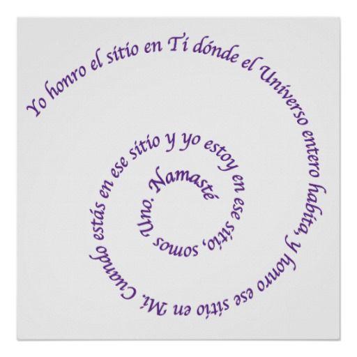 Meaning of Namaste' en Español