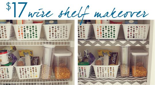 17 wire shelf makeover house mix decor diy shelf makeover rh pinterest com