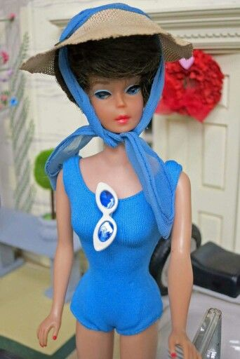 Barbie pak swimsuit edition from the collection of Debra Freeman