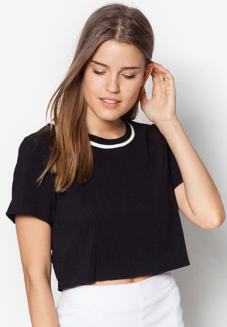 Buy Something Borrowed Back Cut Out Cropped Top Online | ZALORA Malaysia