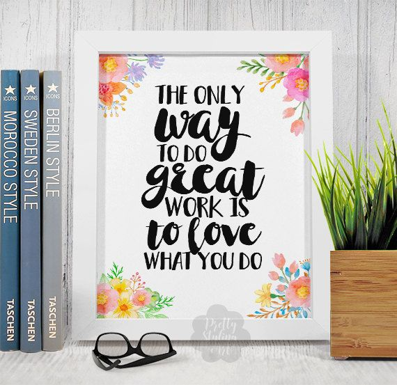 Inspirational Quote Print Motivational Quote by PrettyStylingArt