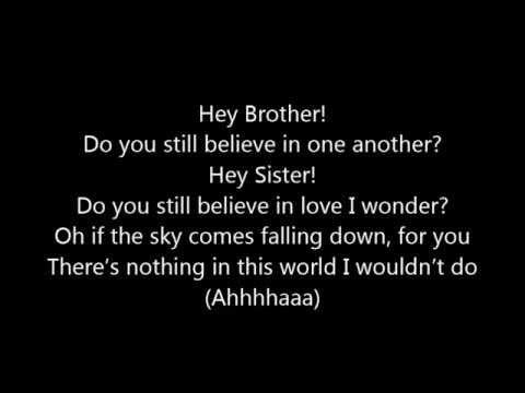 Brother i love you lyrics