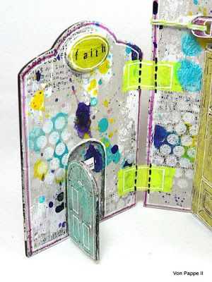 Calico Craft Parts: Creativity & Courage - Triptych - by Claudia