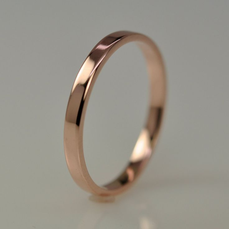 Rose Gold Wedding Band, via Etsy.