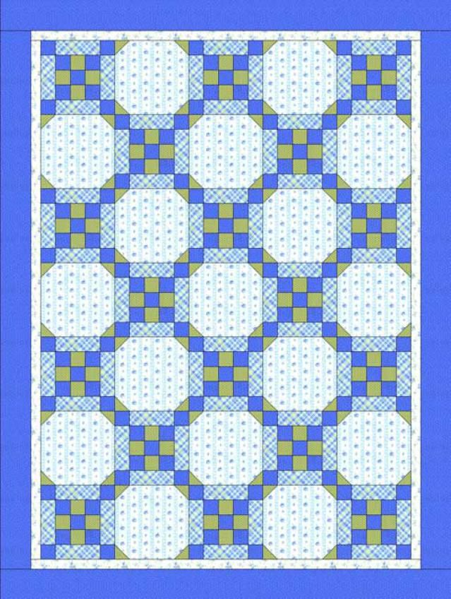 Stitch a Baby Quilt for That Special Little One: Framed Nine Patch Quilt