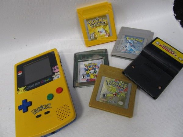 shopgoodwill.com: GameBoy Color Console PokeMon Pinball Pikachu
