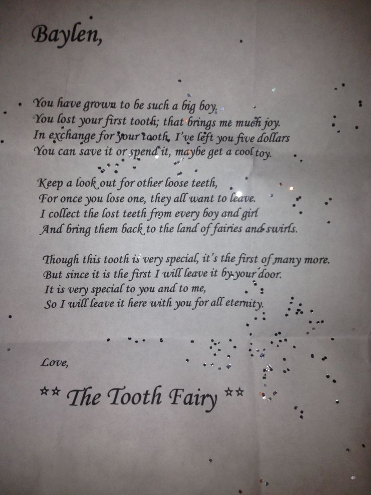 Tooth fairy letter 11 best Tooth Fairy