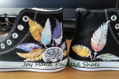Painting On Baby Converse Shoes With Acrylic