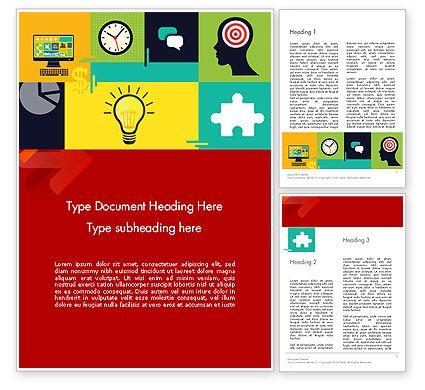 Flat Design Infographic Symbols Word Template