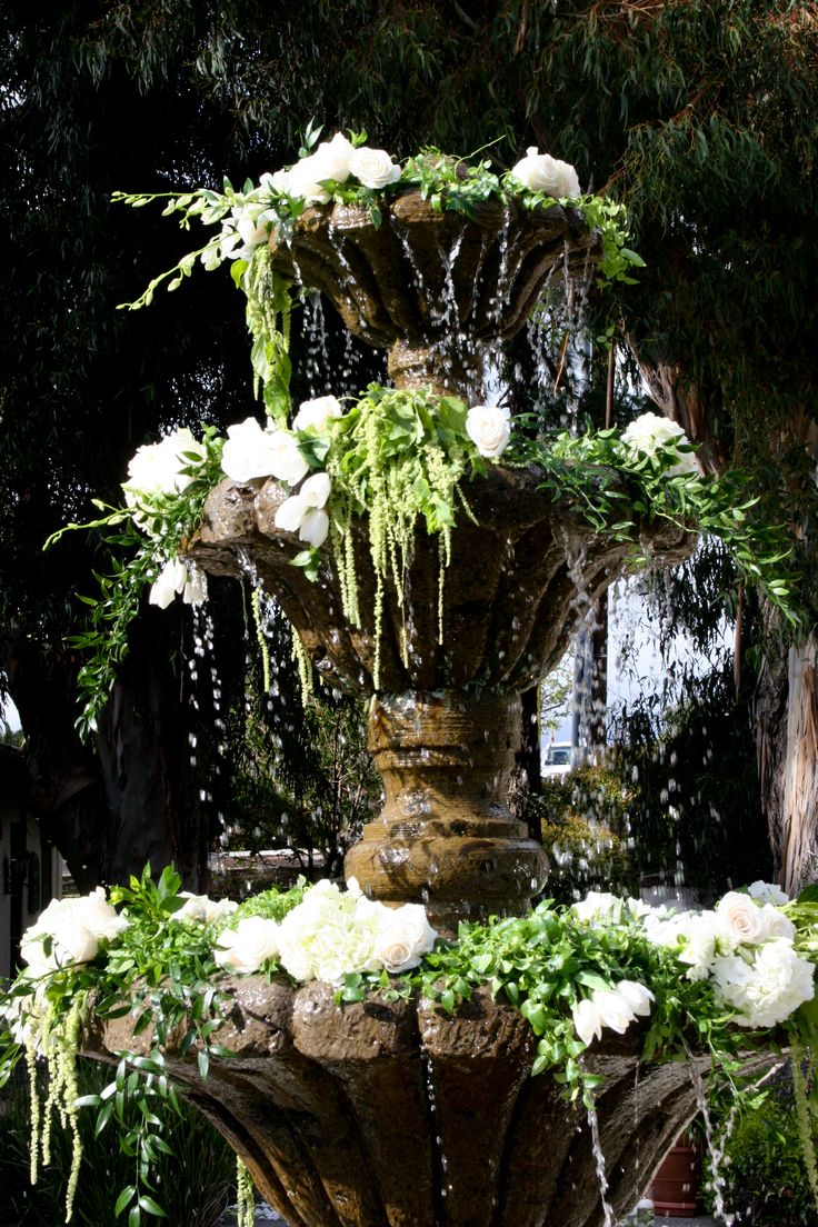 49 best fountain pool flowers images on pinterest fountain water fountain florals