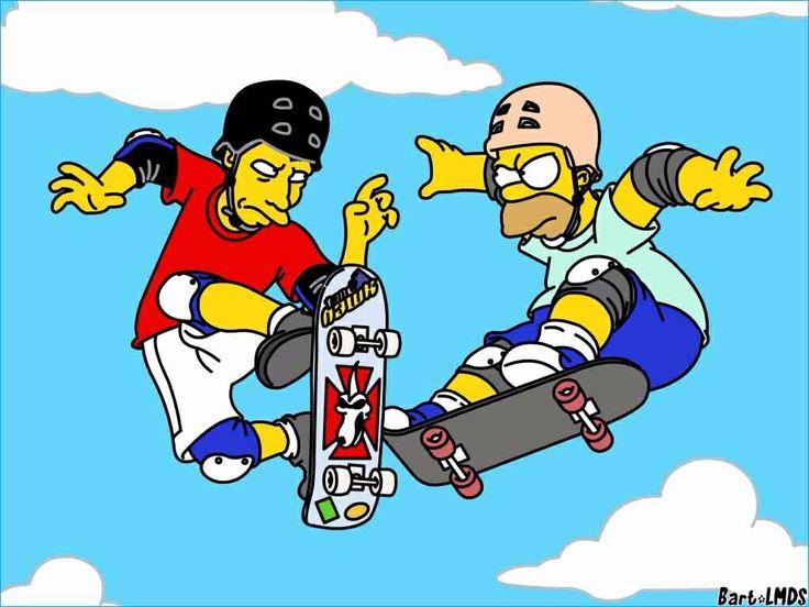 Tony Hawk & Homer Simpsons Skateboarding