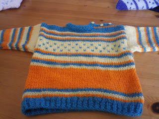 Joias de trapos: Camisola em tricot para para bebé (1 ano) Mais