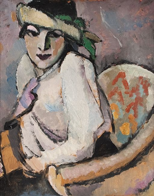 Kunnas Väinö (1896-1929),  Elina Vaara, n. 1928, öljy, 52 x 42