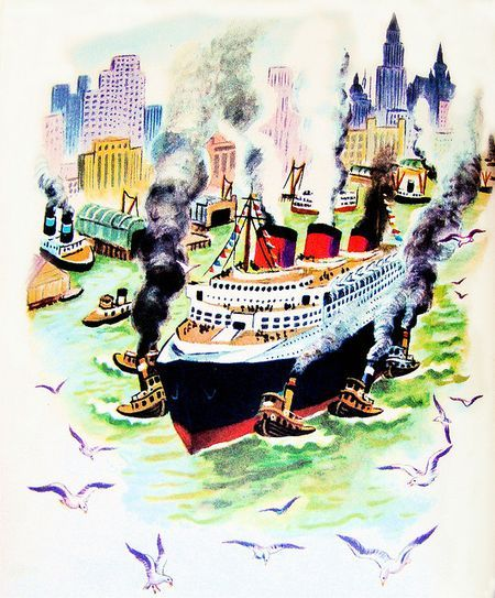 Tibor Gergely, A Year In The City, Simon & Shuster, 1948Photos, 1935 Tibor, Tibor Gergely, The Cities, Glorious Illustration, Favorite Illustration, Illustration Vintage, Book Illustration, Children Book