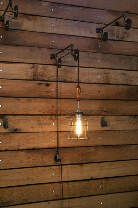 Soporte de polea con jaula Industrial luz y por IndustrialRewind