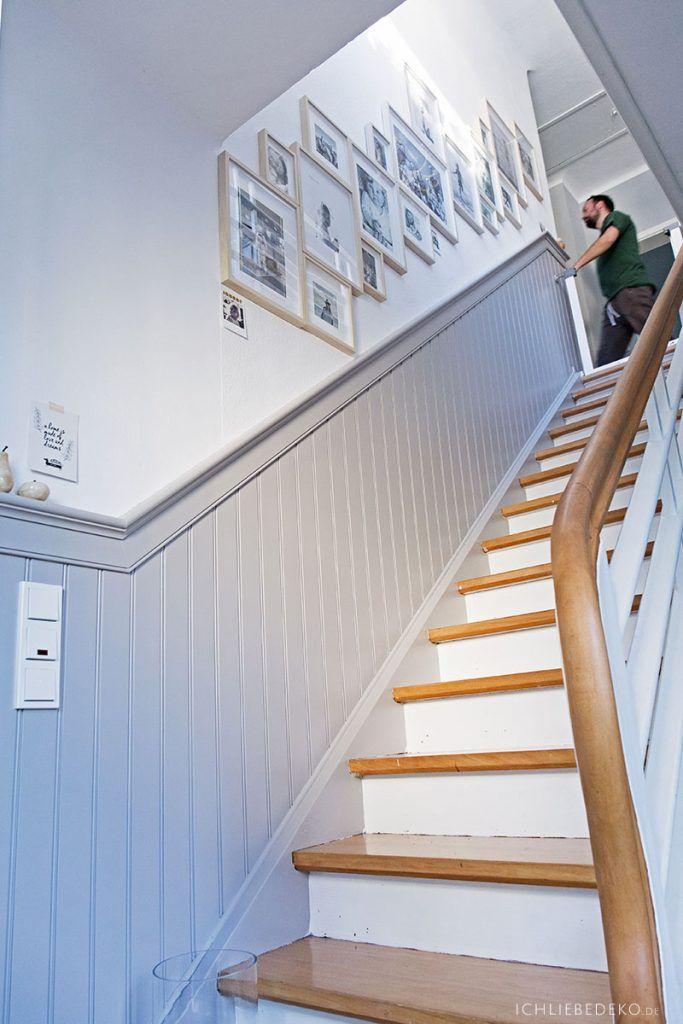 Amerikanische Wandverkleidung Als Verschonerung Fur Die Treppe Ich Liebe Deko Wandverkleidung Treppe Treppe Renovieren