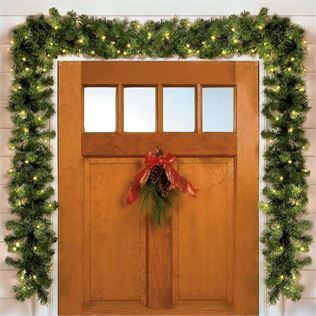 551445 - Cordless Battery-Operated LED 6' Pine Garland
