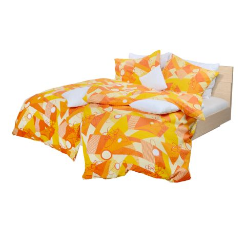 Holey Quilt® Bavlnená obliečka Dabih orange 140x200,70x90