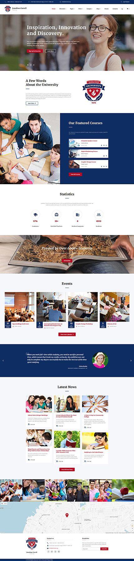 National University #website #template. #themes #business #responsive #websitethemes