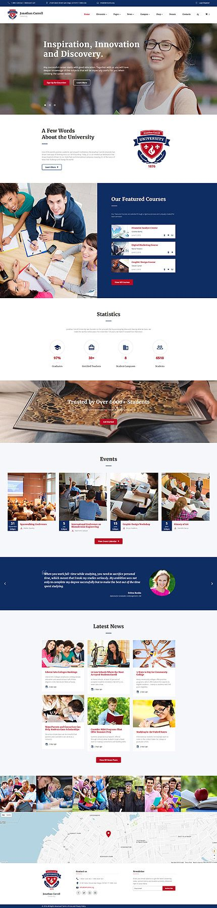 $75 - University Responsive Website Template