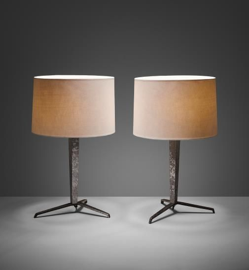 JEAN-MICHEL FRANK Pair of table lamps, from the Hotel Horizonte, Mar del Plata, Argentina , circa 1940