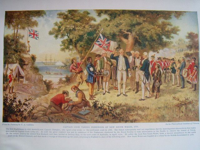 File:Captain Cook takes formal possession of New South Wales 1770.jpg