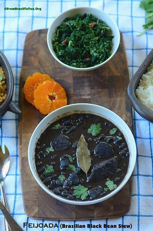 Feijoada (Brazilian Black Bean and Pork Stew) -- The best beans that you will ever eat!!