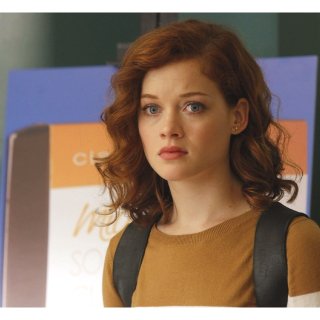 Jane Levy from Suburgatory... This is basically my hair AND my expression. :)