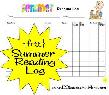 Free Summer Reading Log and Reading Incentive Ideas - for help keeping up with summer reading for school.