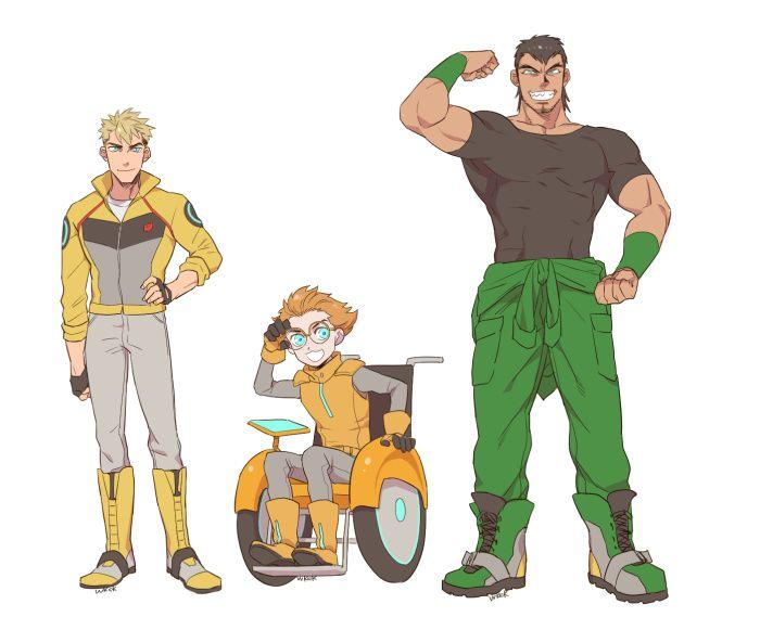 Humanformers Bumblebee, Fixit and Grimlock.