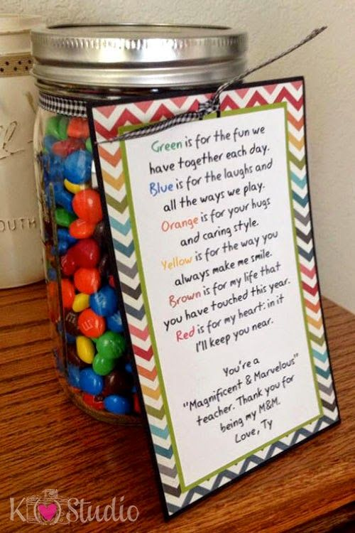 Teacher Poem for Mason Jar by K (heart) Studio