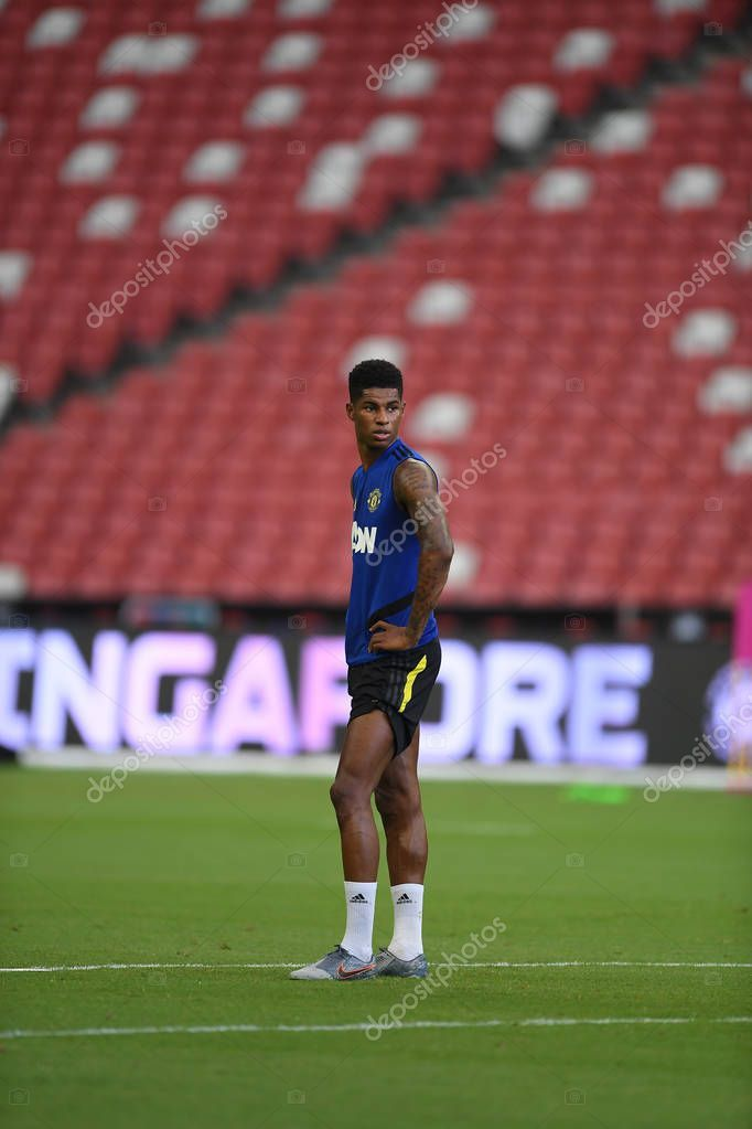 Kallang Singapore 19jul2019 Marcus Rashford Marcus Rashford Manchester United Team Manchester United Players