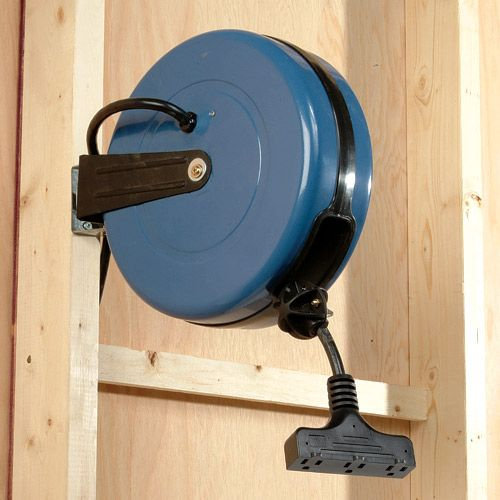 12 gauge retractable extension cord reel garage entry mud room rh pinterest com