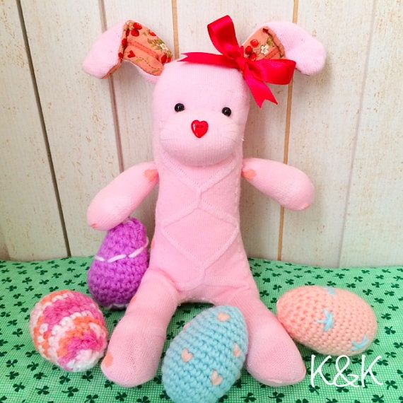 Sock Bunny Doll by K&K Crafts And Designs