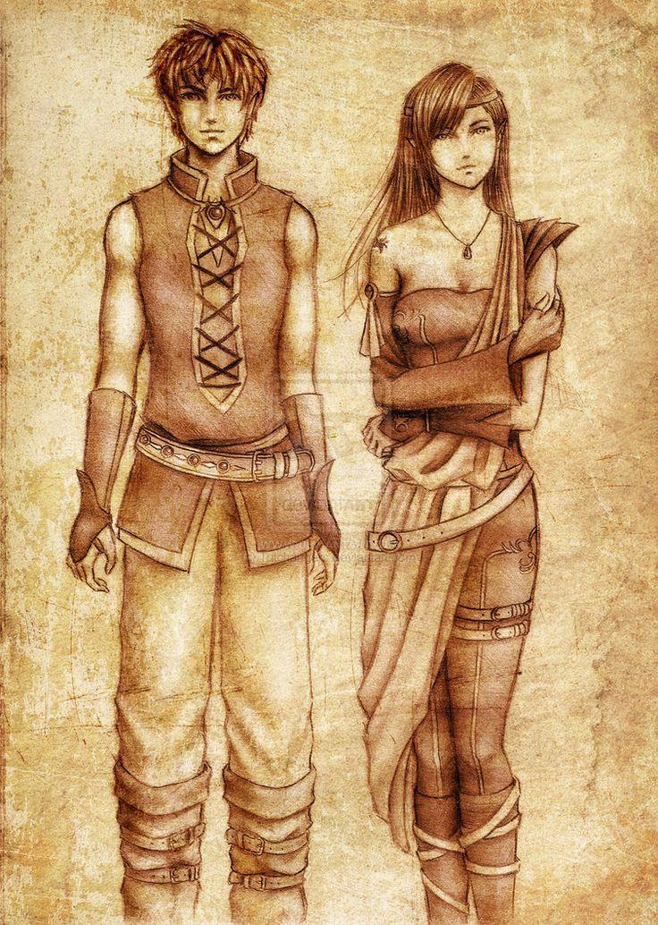 Inheritance - Eragon & Arya oh hey Arya has black hair...something neglected in the movie