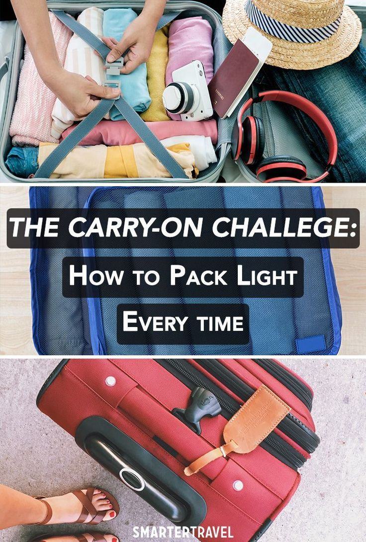 how to pack light for a week trip