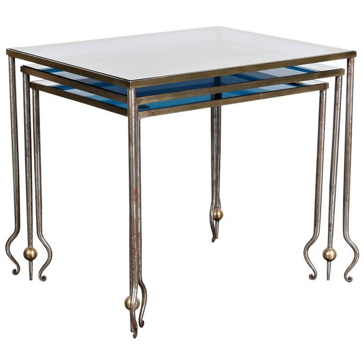 René Drouet Nesting Tables | From a unique collection of antique and modern nesting tables and stacking tables at http://www.1stdibs.com/furniture/tables/nesting-tables-stacking-tables/