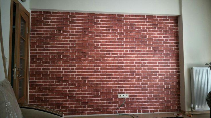 Kiremit duvar kağıdı uygulaması