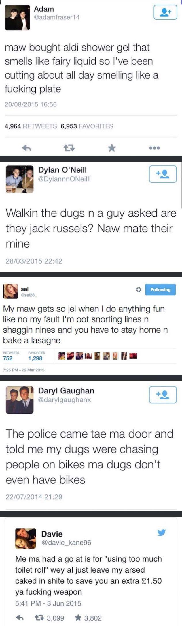 Scottish Twitter. Because God made the Scots just a wee bit weirder.