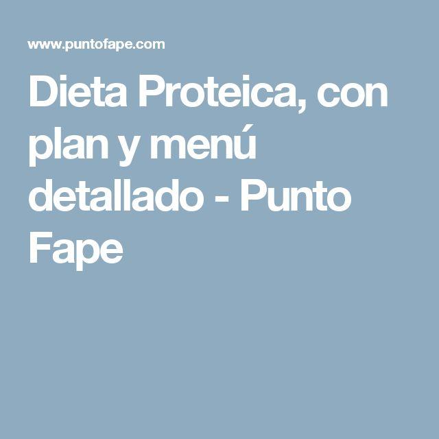 Dieta Proteica, con plan y menú detallado - Punto Fape