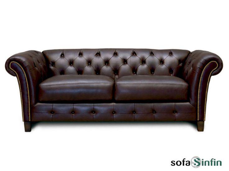 Sofá clásico de 3 y 2 plazas modelo Thorton fabricado por Losbu en Sofassinfin.es