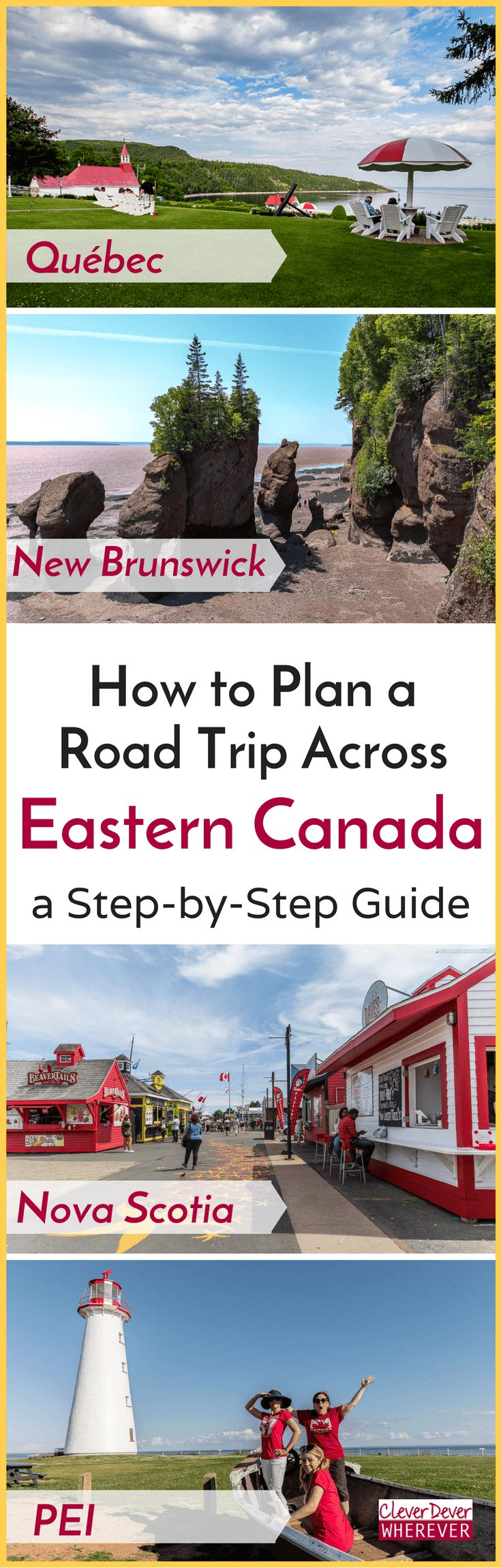 Thinking about a Canada road trip? This 14 Day Itinerary takes you from Montreal to PEI. Download the free guide!