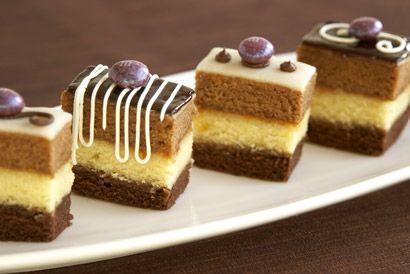 French Cakes Petit Four Recipes | view idea:Recipe:267:triple chocolate petit fours