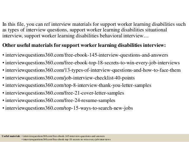 free template for a resume for disability supprt woker - Google Search