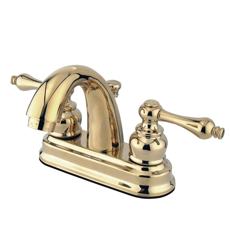 Kingston Brass KB5612AL Restoration Lavatory Faucet with  Retail Pop-Up, Polished Brass - Price: $109.95 & FREE Shipping over $99     #kingstonbrass