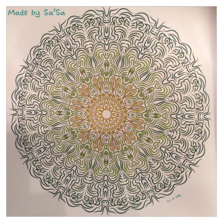 Het Enige Echte Mandala Kleurboek (deel 1) - Mandala nr. 21