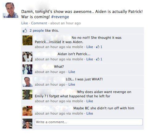 LOL Patrick? #Revenge #Aiden #Emily #Nolan #AmandaClark #Jack #Declan #Charlotte #Patrick #Conrad #Victoria #Grayson