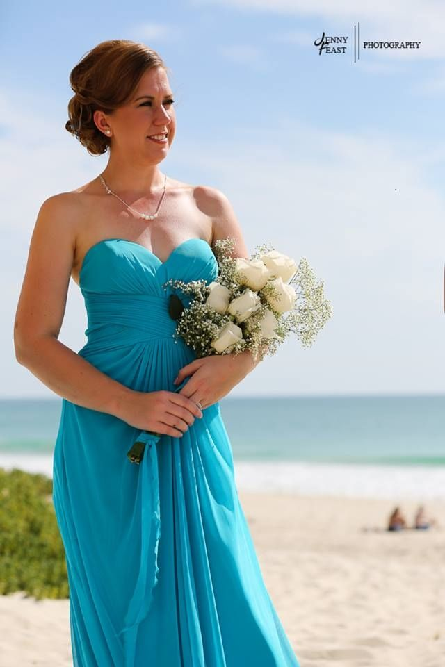 Beach wedding Bridesmaid by Total Brides hair & makeup (c) Jenny Feast Photography